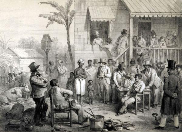 voyage-c3a0-surinam-lithografie-pj-benoit-slavenverkoop-suriname-1831